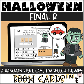 Halloween Articulation BOOM Cards™ - Final R - Hangman Game