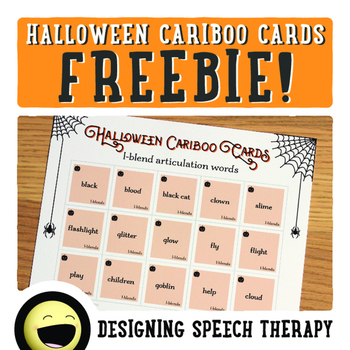 Halloween Articulation Cards for Cariboo FREEBIE