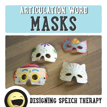 Halloween Articulation Color-by-Number Masks