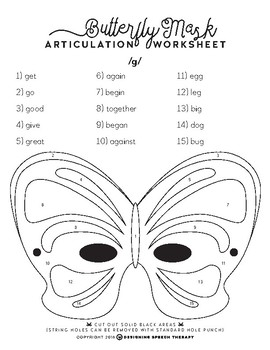 Halloween Articulation Color-by-Number Masks