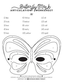 Halloween Articulation Color-by-Number Masks FREEBIE