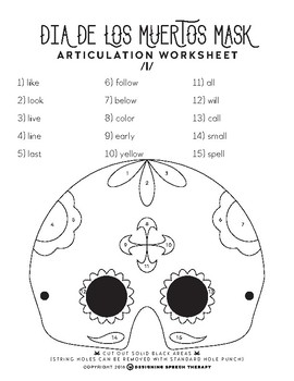 Halloween Articulation Color-by-Number Masks FREEBIE