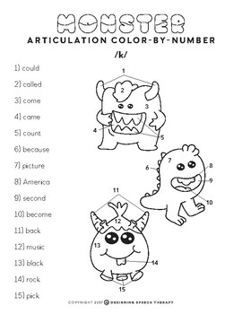 Halloween Articulation Color-by-Number Monsters