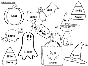 Halloween Articulation Coloring Sheets Packet