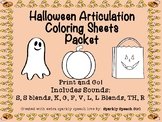 #oct2018slpmusthave Halloween Articulation Coloring Sheets Packet