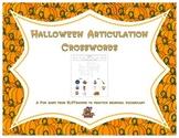 Halloween Articulation Crosswords