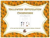 Halloween Articulation Crosswords