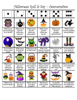 Halloween Articulation Dice Roll (Conversational Level)