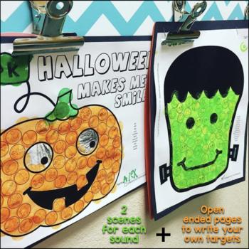 Halloween Articulation Dot Art {NO prep!}