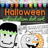 Halloween Articulation Dot Art {NO prep!}