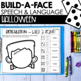 Halloween Speech Therapy | Articulation & Language NO PREP BUILD-A-FACE