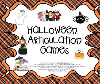 Halloween Articulation Games
