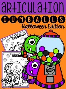 Halloween Articulation Gumballs {NO PREP}