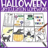 Halloween Articulation Homework