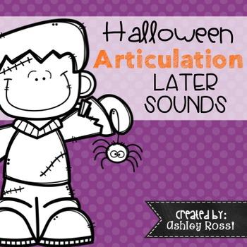 Halloween Articulation - No Prep: Later Sounds