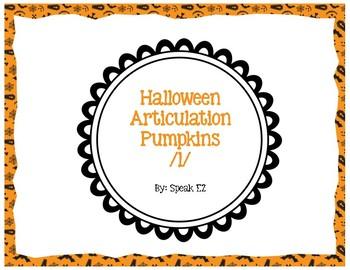 Halloween Articulation Pumpkins /l/