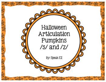 Halloween Articulation Pumpkins /s/ and /z/