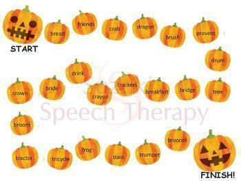 Halloween Articulation R Fun Packet - Prevocalic R, R-blends, Vocalic R