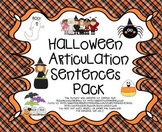 Halloween Articulation Sentences Pack