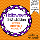 Halloween Articulation Activities For Speech Therapy: R