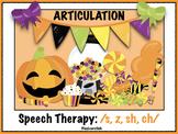 Halloween Articulation /s, z, sh, ch/ Set