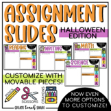 Halloween Assignment Slides