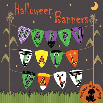 Halloween Candy Corn ((Editable)) Banners - Assortment