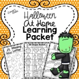 Halloween At Home Learning Packet {Distance Learning}