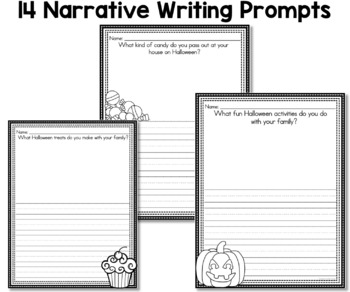Halloween Narrative Writing Prompts