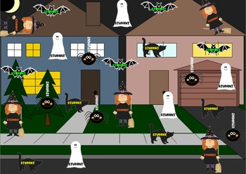 Hallowe'en Attendance (interactive, makes noise and moves around)