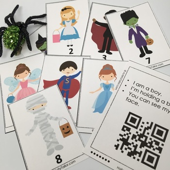 Halloween Attributes Game:  Compare/Contrast (includes Cariboo option!)