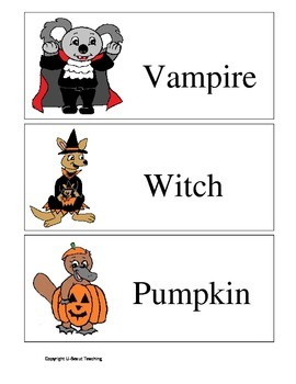 Halloween Australia- Flashcards of Halloween Terms