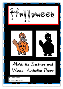 Halloween- Australian Animals in Costume- Match the Shadow