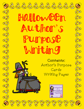 Halloween Author's Purpose