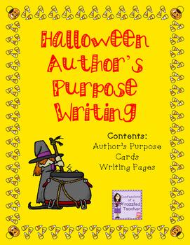 Halloween Author's Purpose