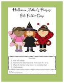 Halloween Author's Purpose Sort File Folder Game