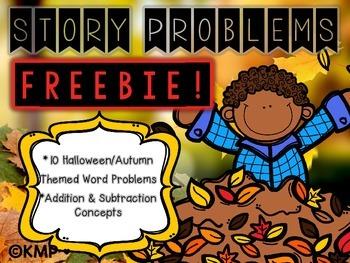 Halloween & Autumn/Fall Themed Story Problems FREEBIE!