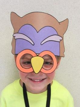Halloween Autumn Owl Sentence Strip Mask