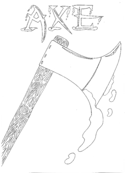 Halloween: Axe Colouring Sheet