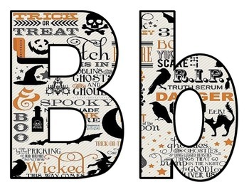 Halloween BB letters