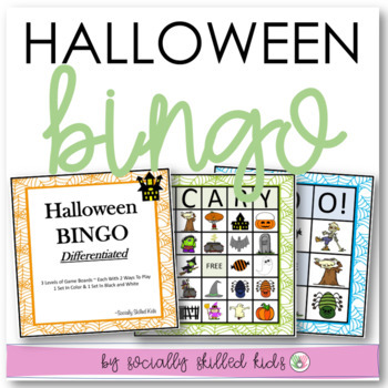 Halloween BINGO! {Differentiated for k-5th Grade or Ability and Beyond}