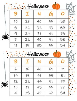 Halloween BINGO (Long Game Version)