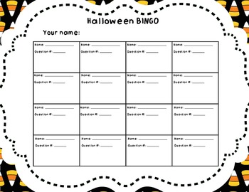 Halloween BINGO - A classic game with a NEW spin! Perfect for all ages