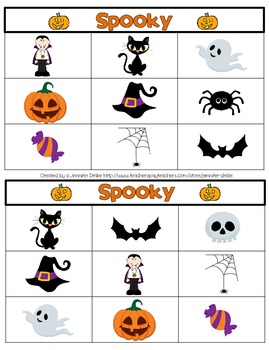 Halloween BINGO ~Spooky!~ 2 Versions of Play!  Great for Center/ Party Activity!