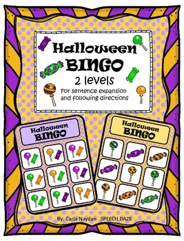 Halloween BINGO for listening skills and sentence expansion