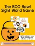 Halloween: BOO Bowl Sight Word Game!! (Editable)