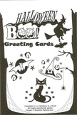 Halloween BOO! Greeting Cards (printable on orange paper)