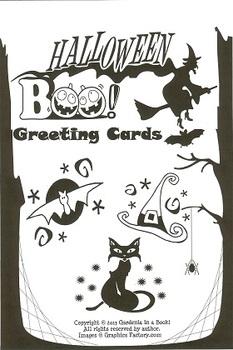 Halloween BOO! Greeting Cards (printable on orange paper)