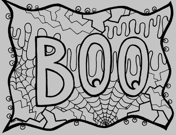 Halloween Boo Coloring Page