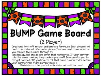 Halloween BUMP Game Boards (INCLUDES 3)